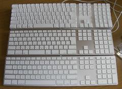 Appleキーボード3種