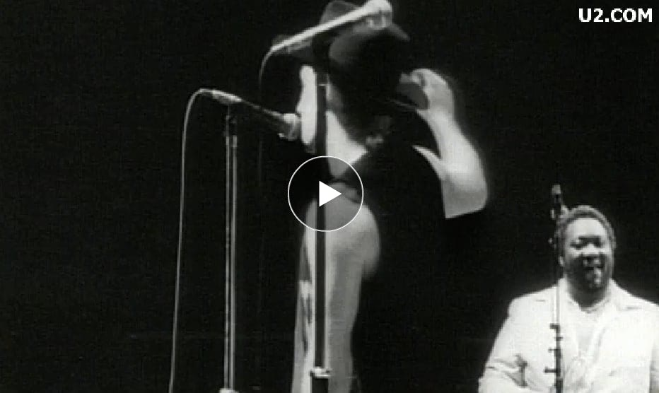"""U2 with B.B. King and his band """"When love comes to town"""""""