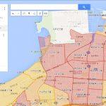 福岡市西区の世帯数マップ