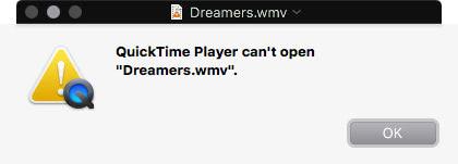 QuickTime Playerはwmvファイルを非サポート