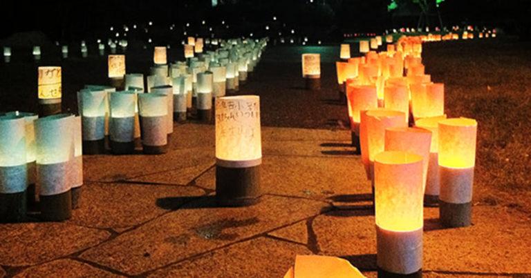 藤田公園バンブーキャンドルナイト:博多灯明ウオッチング