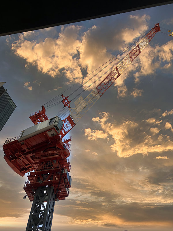 渋谷駅のクレーン:編集